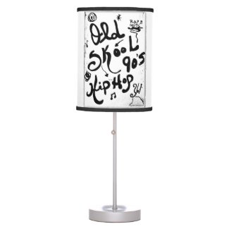 Rachel Doodle Art - Old-Skool 90's Hip-Hop Table Lamps