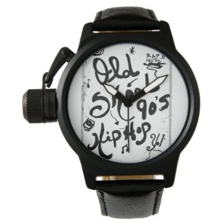 Rachel Doodle Art - Old-Skool 90's Hip-Hop Watch