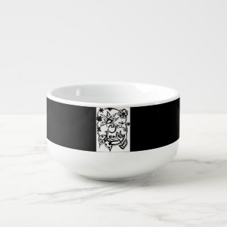 Rachel Doodle Art - Project Healthy Soup Bowl With Handle