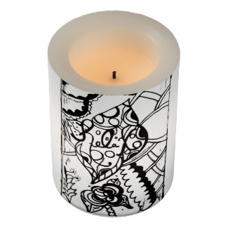 Rachel Doodle Art - Relax Flameless Candle
