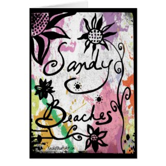 Rachel Doodle Art - Sandy Beaches Greeting Card
