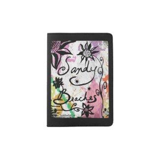 Rachel Doodle Art - Sandy Beaches Passport Holder