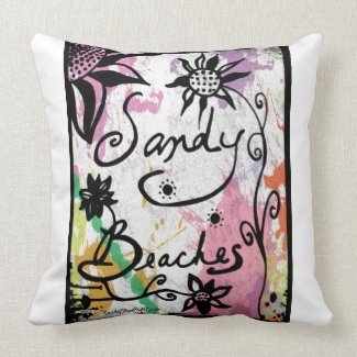Rachel Doodle Art - Sandy Beaches Pillows
