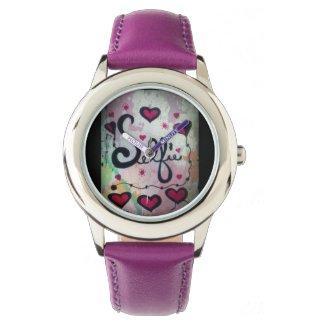 Rachel Doodle Art - Selfie Wristwatch
