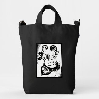 Rachel Doodle Art - Sunday Duck Canvas Bag