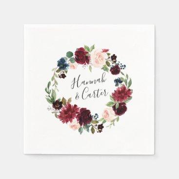Radiant Bloom Personalized Wedding Napkin