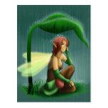 Rain fairy postcard