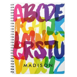Rainbow Alphabet Kids Spiral Notebook