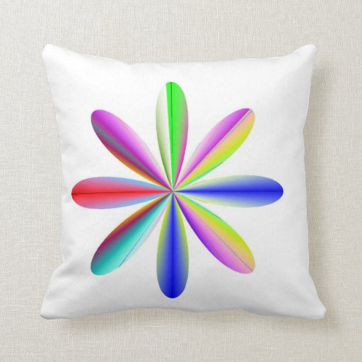 Rainbow Atomic Throw Pillow