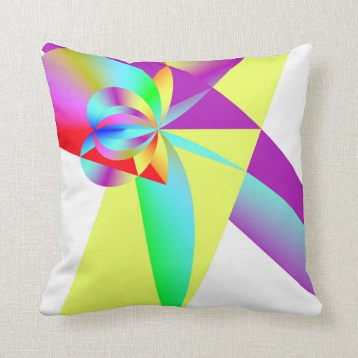 Rainbow Bow Throw Pillow