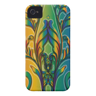 Rainbow Floral Abstract Case-Mate iPhone 4 Cases