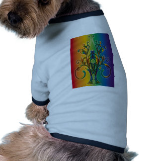 Rainbow Floral Abstract Dog Clothes