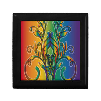 Rainbow Floral Abstract Gift Box
