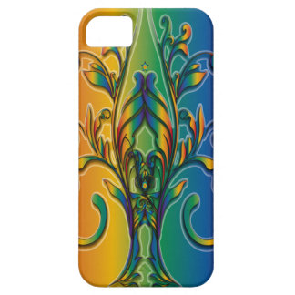 Rainbow Floral Abstract iPhone 5 Cases