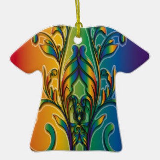 Rainbow Floral Abstract Ornaments