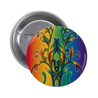 Rainbow Floral Abstract Pin