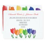 Rainbow FLOWER GAY Lesbian Wedding Card