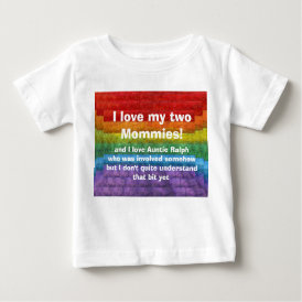 Rainbow Mosaic Gay Pride Flag Baby T-Shirt
