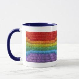 Rainbow Mosaic Gay Pride Flag Mug