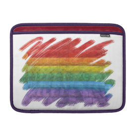 Rainbow Mosaic Gay Pride Flag (Paintbrush) Sleeve For MacBook Air