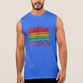 Rainbow Mosaic Gay Pride Flag (Paintbrush) Sleeveless Shirt