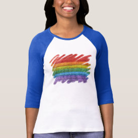 Rainbow Mosaic Gay Pride Flag (Paintbrush) T-Shirt
