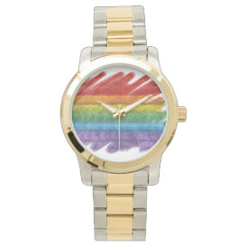 Rainbow Mosaic Gay Pride Flag (Paintbrush) Watch