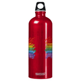 Rainbow Mosaic Gay Pride Flag (Paintbrush) Water Bottle