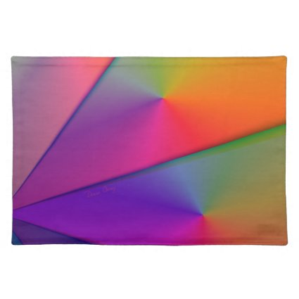 Rainbow Origami – Indigo & Magenta Swirls Place Mat