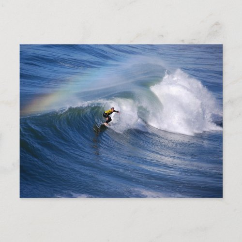 Rainbow Over a California Surfer Postcard postcard