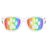 Rainbow Paw Print Kids' Party Shades