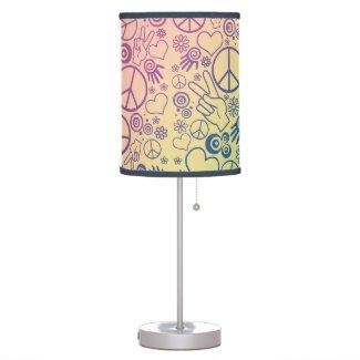 Rainbow Peace Symbol Design Pattern Table Lamp