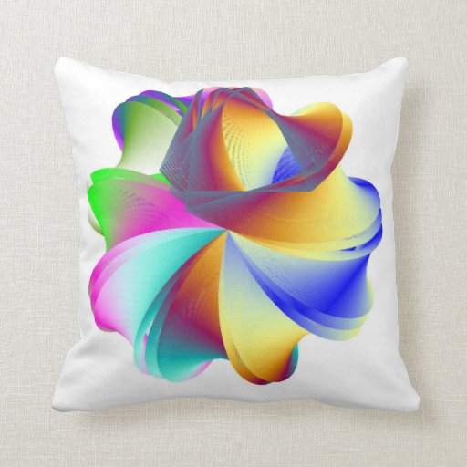 Rainbow Powered Explosion Throw Pillow