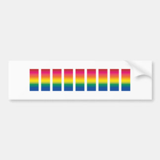 Rainbow Spectrum Blocks Bumper Stickers