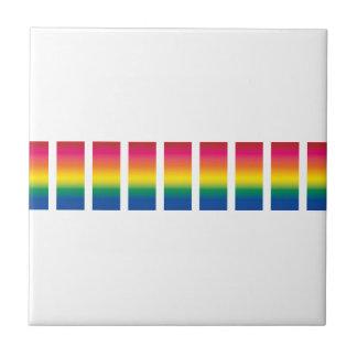 Rainbow Spectrum Blocks Ceramic Tiles