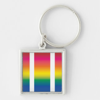 Rainbow Spectrum Blocks Keychain