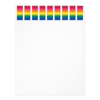 Rainbow Spectrum Blocks Letterhead Design