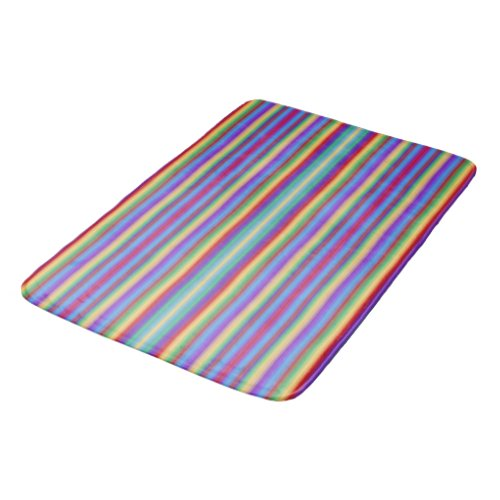 Rainbow Stripes Bath Mat