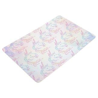 Rainbow Tribal Unicorn Art Design Pattern Floor Mat