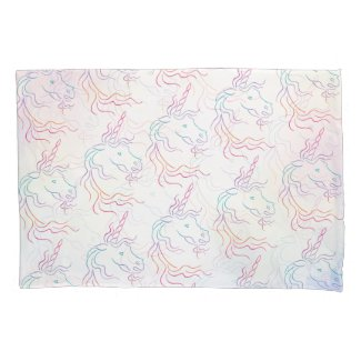 Rainbow Tribal Unicorn Pattern Pillow Case