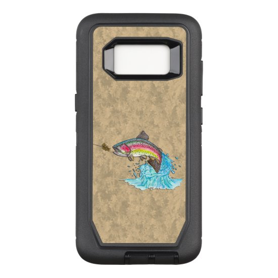 Rainbow Trout Fly Fishing OtterBox Defender Samsung Galaxy S8 Case