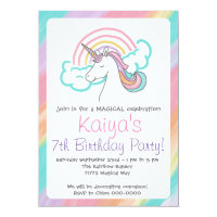 Rainbow Unicorn Invitation