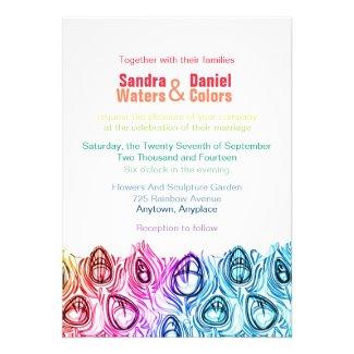 Rainbow Wedding Invitations Online Custom Template