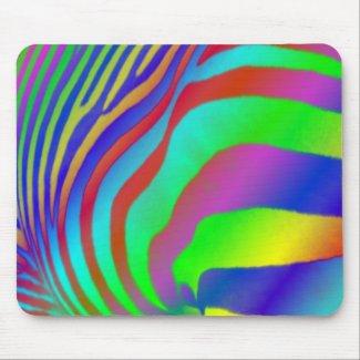 Rainbow Zebra Print Mousemat mousepad