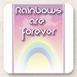 Rainbows Are Forever Beverage Coasters