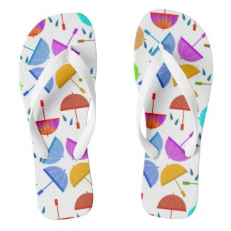 Rainy Day Umbrella Flip Flops