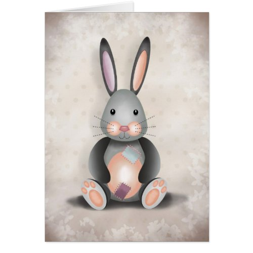 Ralph the Patchwork Rabbit - Greeting Card