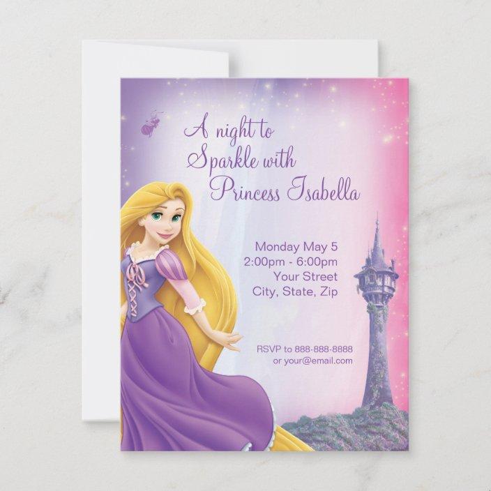 rapunzel birthday invitation zazzle com