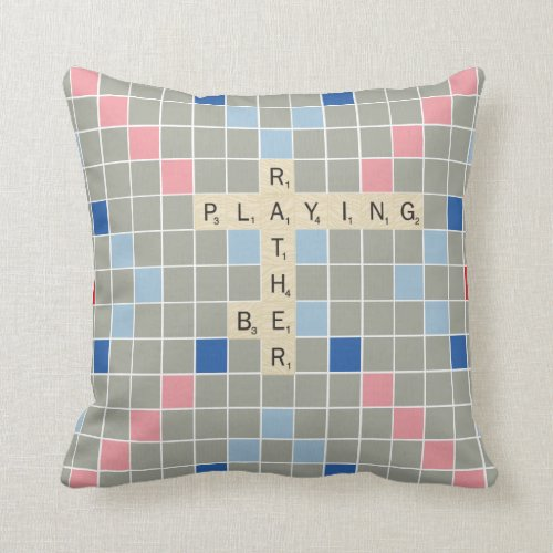 Rather Be Playing Throw Pillow