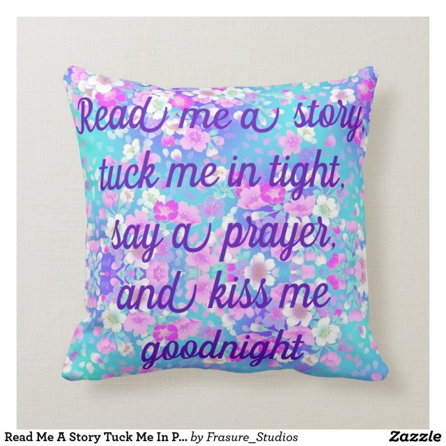 Read Me A Story Tuck Me In Pillow REVERSIBLE